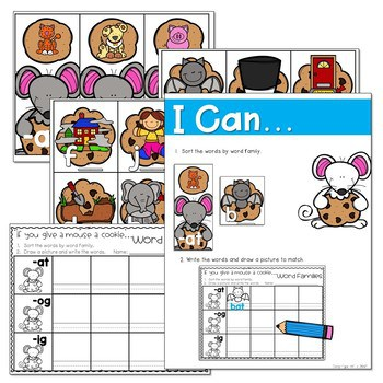 If You Give a Mouse a Cookie... Literacy and Math Stations 3