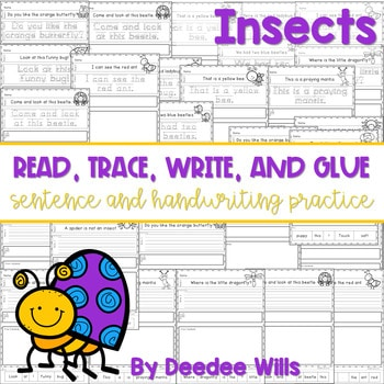 Insect read, trace, glue, and draw 1