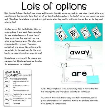 Interactive Word Wall (editable) 2