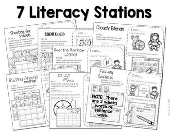 Kindergarten Centers: Black Ink ONLY The COMPLETE BUNDLE 2