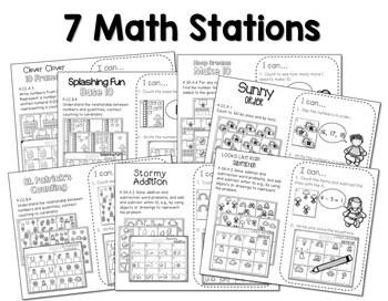 Kindergarten Centers: Black Ink ONLY The COMPLETE BUNDLE 3