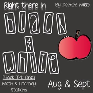 Math and Literacy Center: Just Roll With It: August/September-editable 6