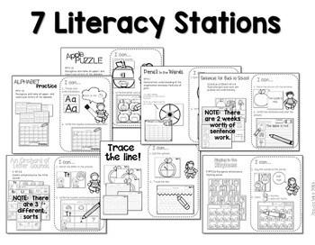 Kindergarten Centers: Black ink ONLY for August & September 3