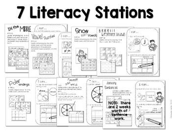 Kindergarten Centers: Black ink ONLY for January 2
