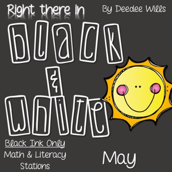 Kindergarten Centers: Black ink ONLY for May 1