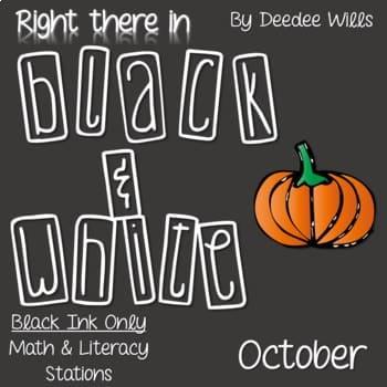 Kindergarten Centers: Black ink ONLY for October 1