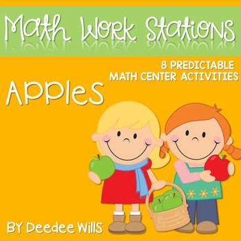 Kindergarten Math Centers ~ Apples 1