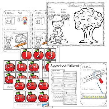 Kindergarten Math Centers ~ Apples 2