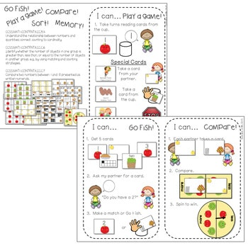 Kindergarten Math Centers ~ Apples 3