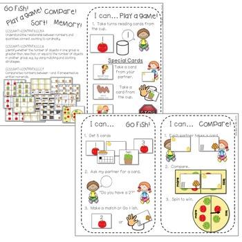 Kindergarten Math Centers ~ Apples 3