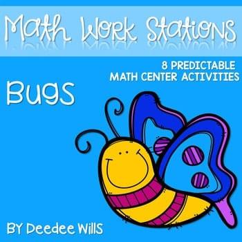 Kindergarten Math Centers ~ Bugs! 1
