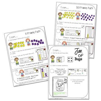 Kindergarten Math Centers ~ Bugs! 4