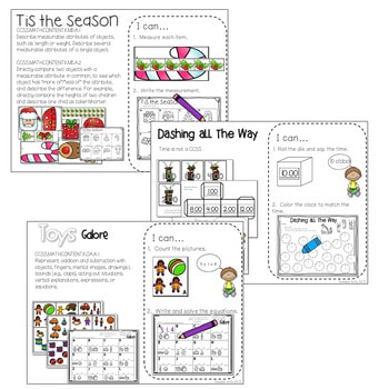 Kindergarten Math Centers ~ Christmas 2