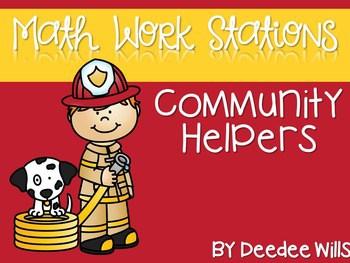 Kindergarten Math Centers ~ Community Helpers 1