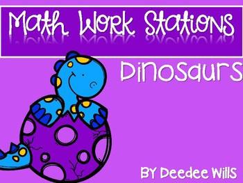 Kindergarten Math Centers~ Dinosaurs 1