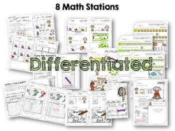 Kindergarten Math Centers~ Dinosaurs 2