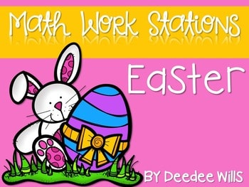 Kindergarten Math Centers ~ Easter CCSS 1