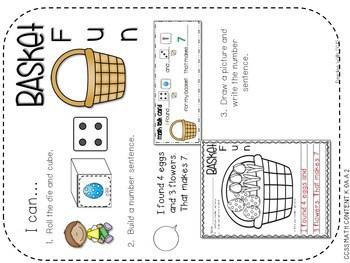Kindergarten Math Centers ~ Easter CCSS 4