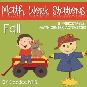 Kindergarten Math Centers ~ Fall 1