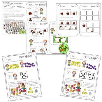 Kindergarten Math Centers ~ Fall 2