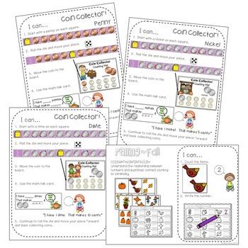 Kindergarten Math Centers ~ Fall 3