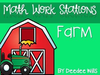 Kindergarten Math Centers ~ Farm 1