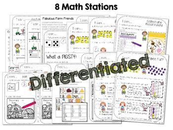 Kindergarten Math Centers ~ Farm 2