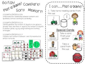 Kindergarten Math Centers ~ Farm 3