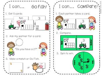 Kindergarten Math Centers ~ Farm 4