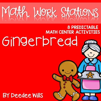 Kindergarten Math Centers ~ Gingerbread 1