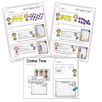 Kindergarten Math Centers ~ Gingerbread 5