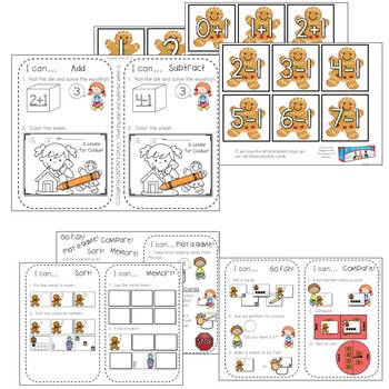 Kindergarten Math Centers ~ Gingerbread 4
