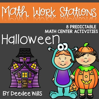 Kindergarten Math Centers | Halloween 1