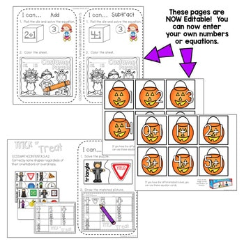 Kindergarten Math Centers | Halloween 2