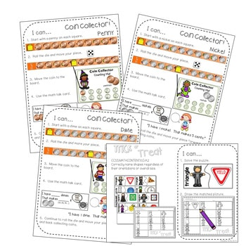 Kindergarten Math Centers | Halloween 3
