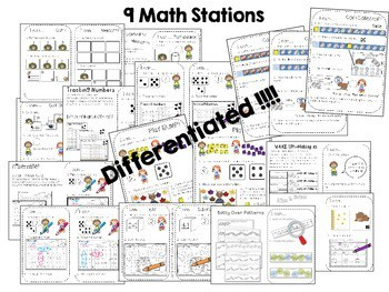 Kindergarten Math Centers ~ Nocturnal & Hibernating Animals 2