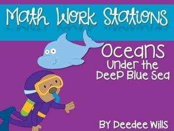 Kindergarten Math Centers ~ Oceans CCSS 1