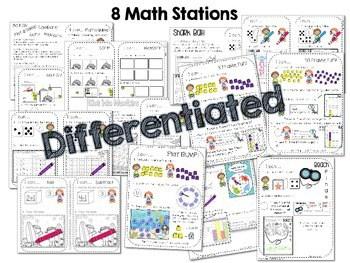 Kindergarten Math Centers ~ Oceans CCSS 2