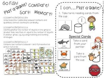 Kindergarten Math Centers ~ Oceans CCSS 3