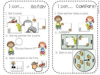 Kindergarten Math Centers ~ Oceans CCSS 4