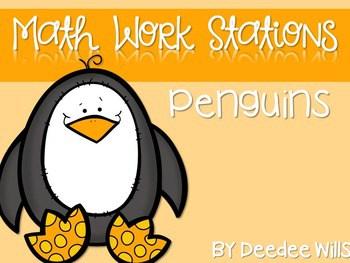 Kindergarten Math Centers ~ Penguins CCSS 1