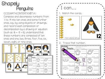 Kindergarten Math Centers ~ Penguins CCSS 3