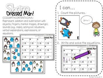 Kindergarten Math Centers ~ Penguins CCSS 4