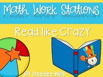 Kindergarten Math Centers ~ Reading Week CCSS 1