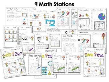 Kindergarten Math Centers ~ Reading Week CCSS 2