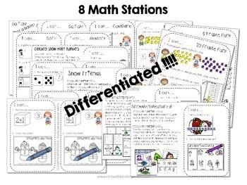 Kindergarten Math Centers ~ Snowman CCSS 2