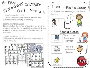 Kindergarten Math Centers ~ Snowman CCSS 3