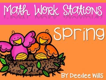 Kindergarten Math Centers ~ Spring 1