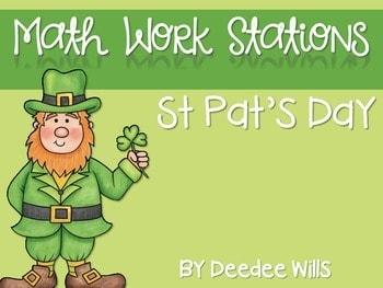 Kindergarten Math Centers ~ St. Patrick's Day 1