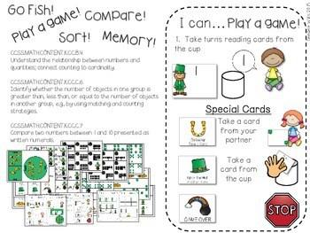 Kindergarten Math Centers ~ St. Patrick's Day 3